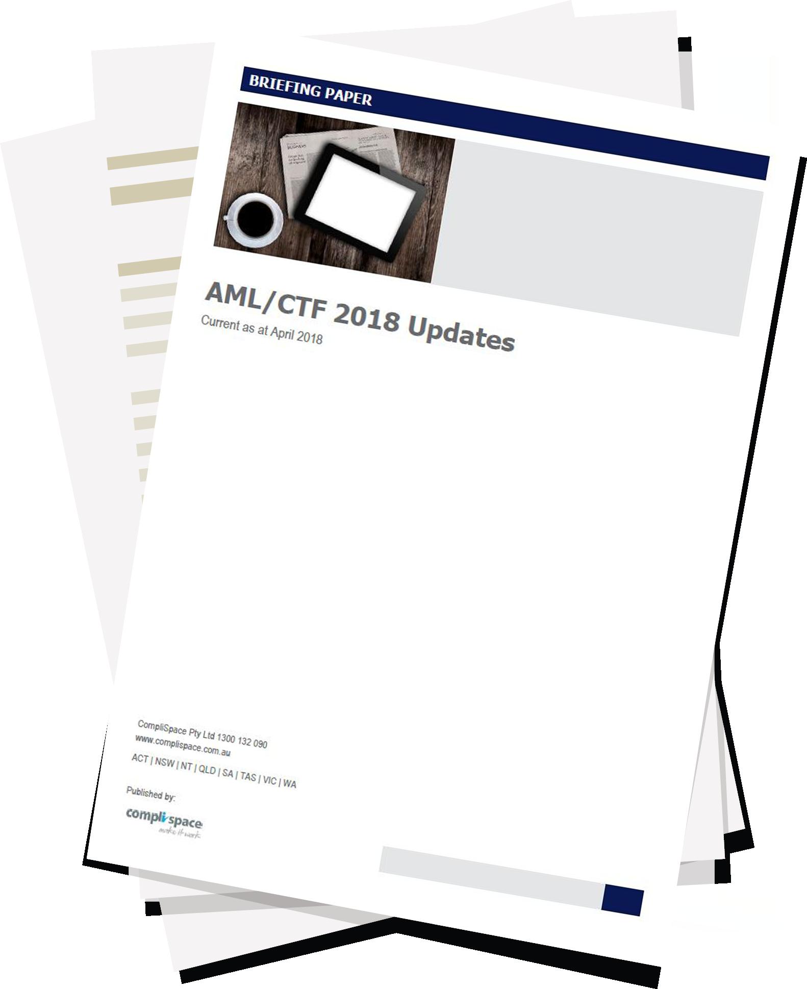 AML/CTF 2018 Updates