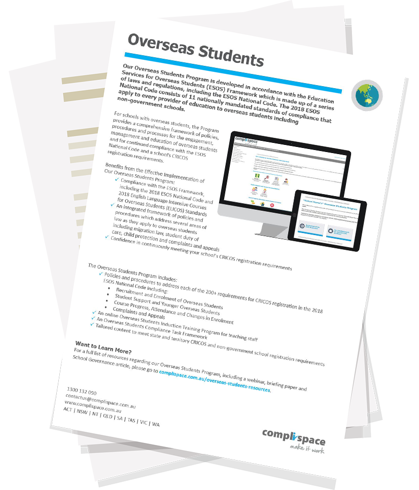 CompliSpace Overseas Students Program Brochure